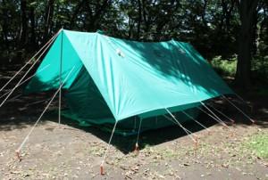 テントも完成!